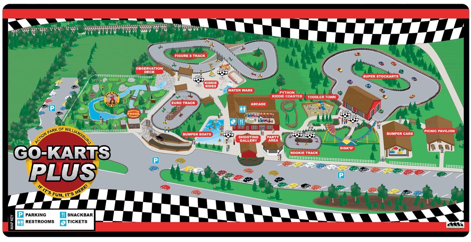 va kart Park Map | Go Karts Plus | Williamsburg Birthdays & Family Fun